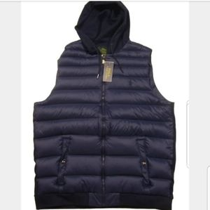 NWT Ralph Lauren Big&Tall Men's Navy Hooded Vest
